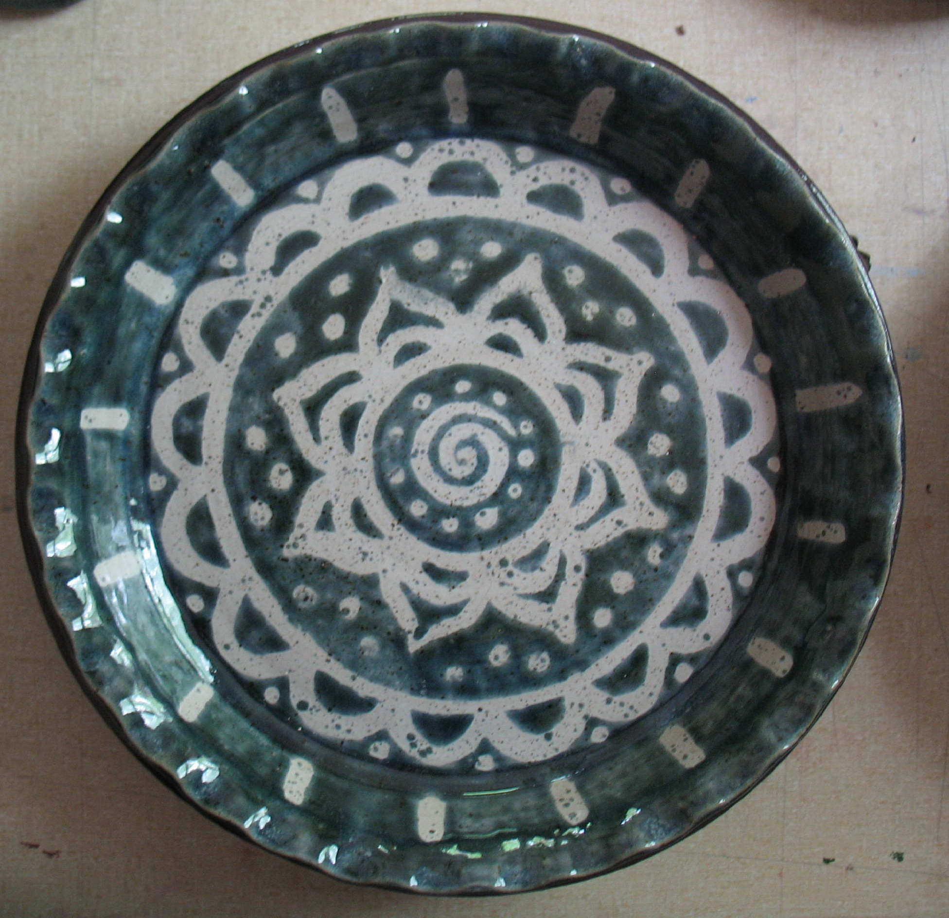 pie plate vsb and white