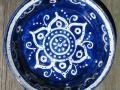 blue batik plate