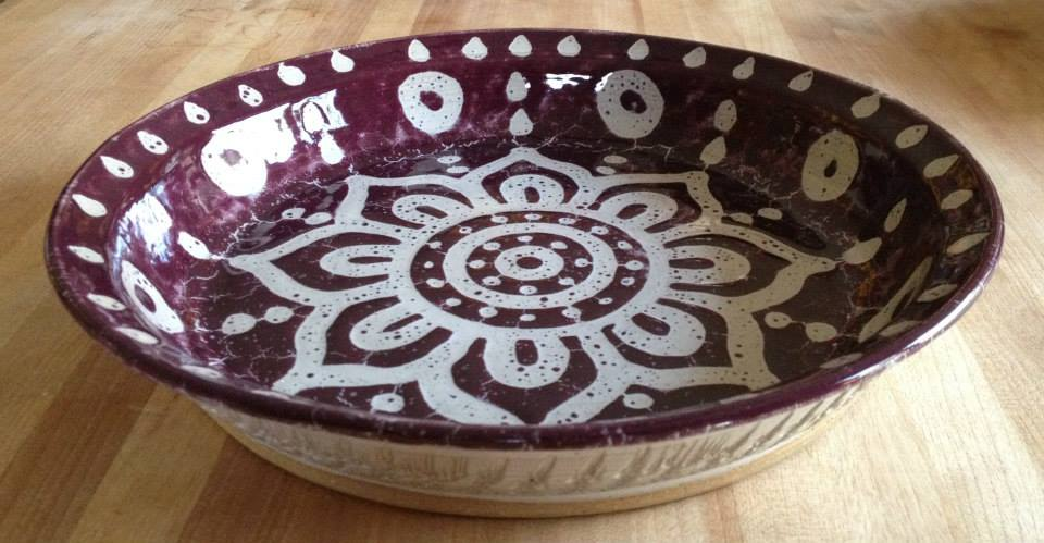 purple and white batik pie plate.jpg