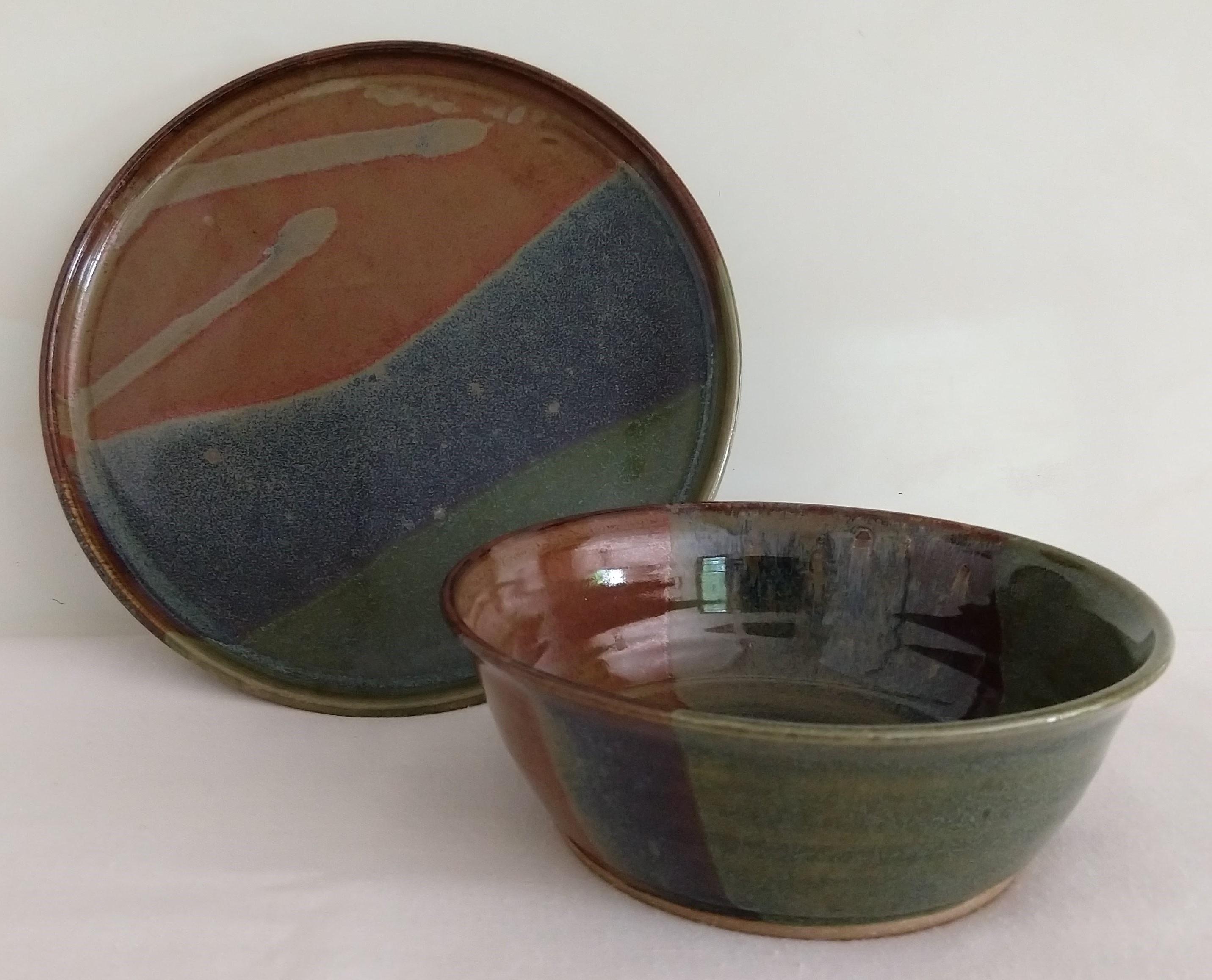 og green plate bowl cropped